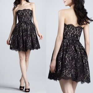 NWT Robert Rodriguez Strapless Lace Dress size 10